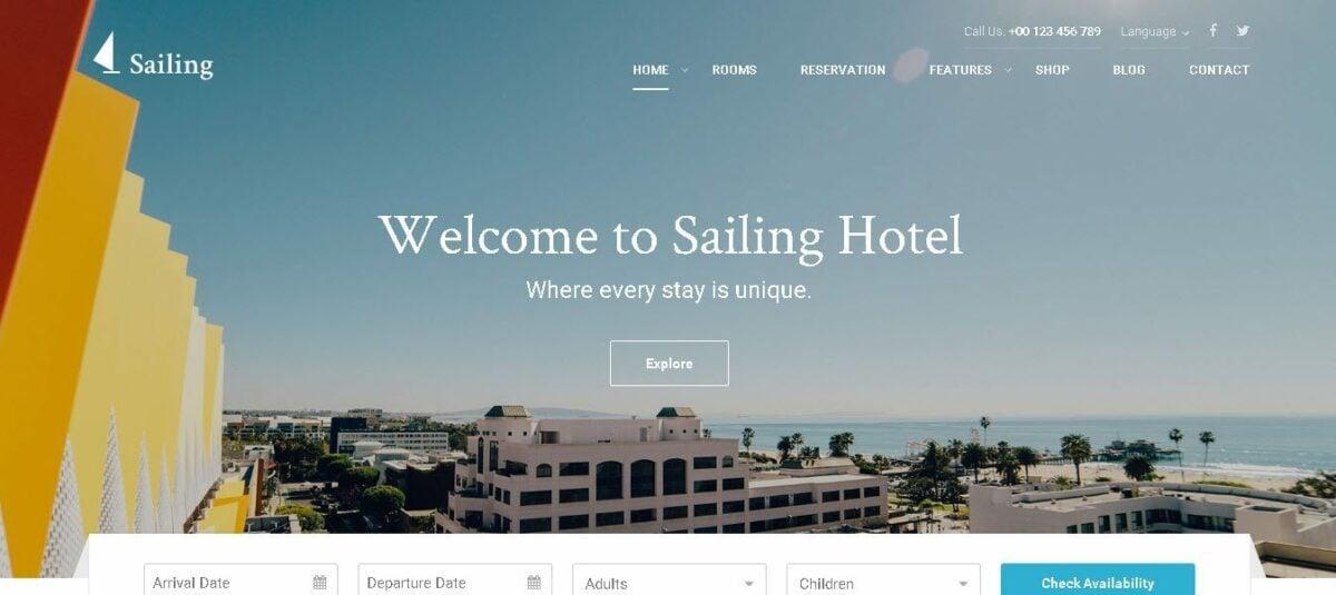sailing perfect hotel website toolbox