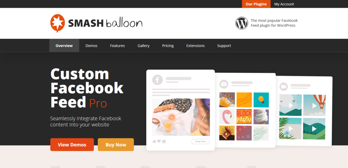 Smash Balloon Social Photo Feed sharing plugin