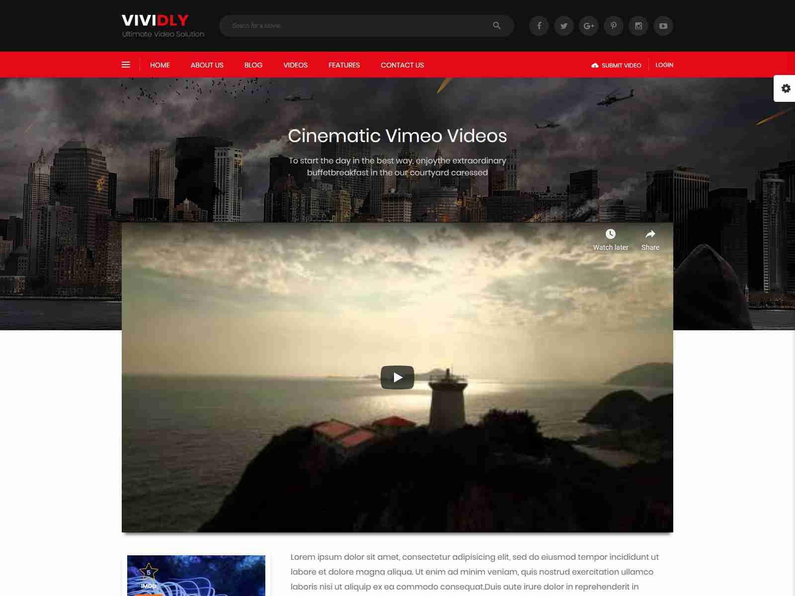 Vividly WP Blog Themes