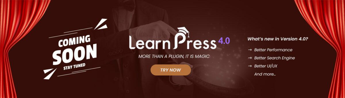 LearnPress 4.0 banner