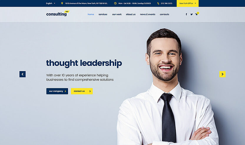 consulting business website theme