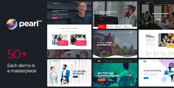 pearl business website theme