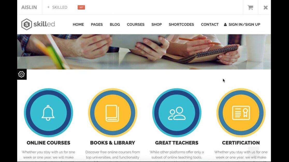 skilled lms wordpress theme