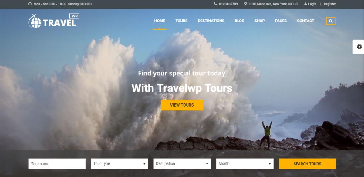 Wordpress theme agency travel Free Travel