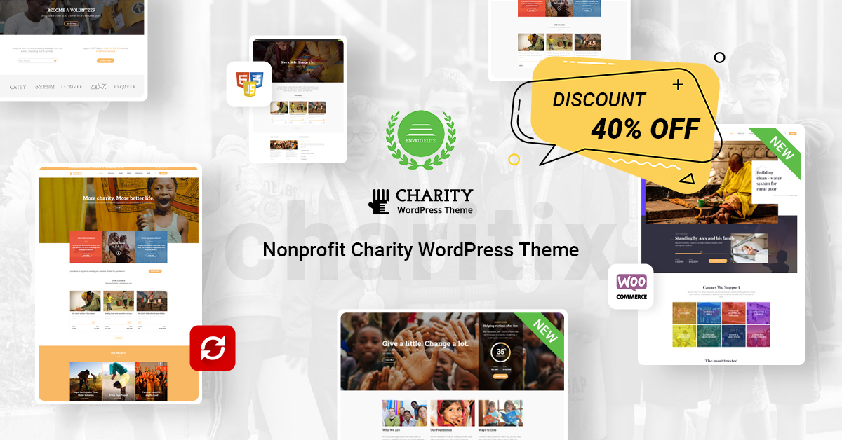 Charity off 40%