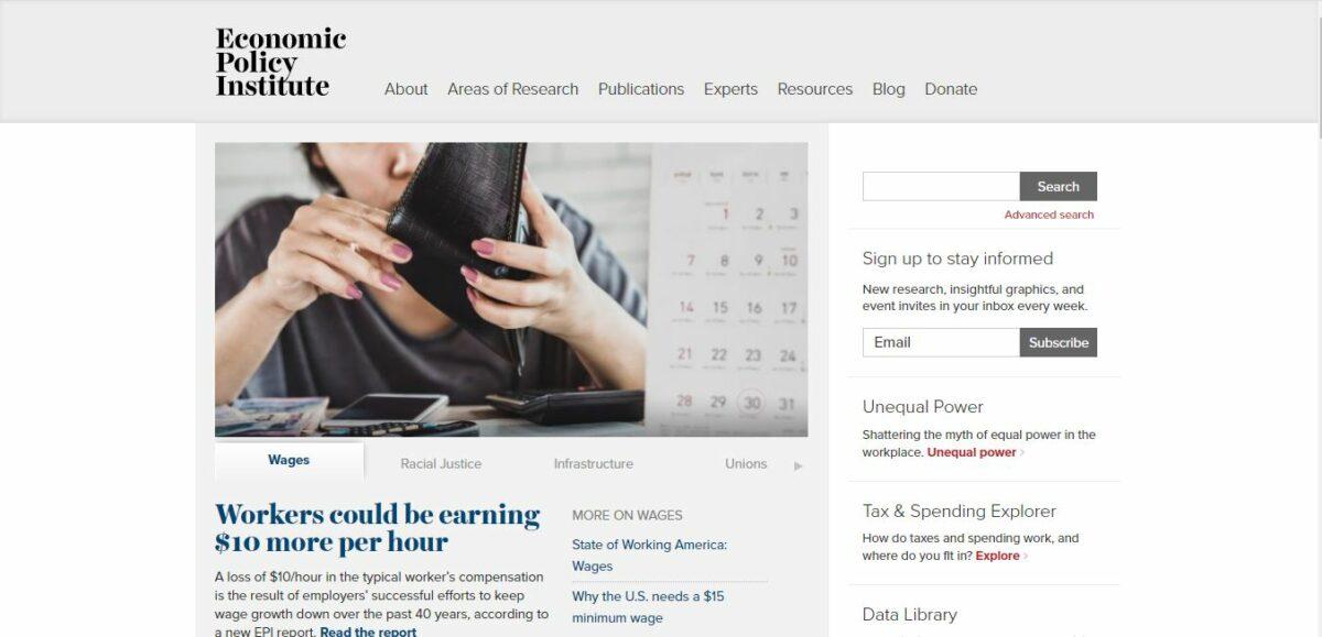 economic policy institute wordpress site