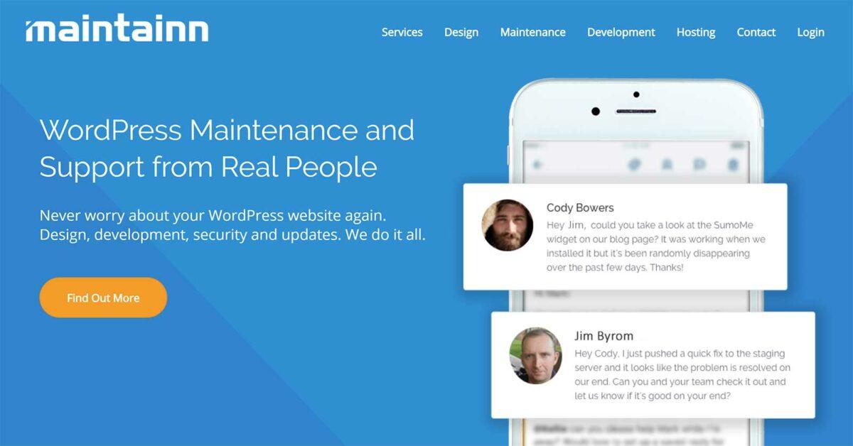maintainn wordpress maintenance service