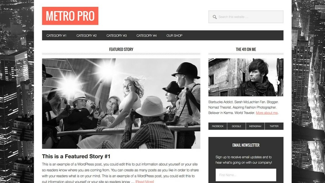 metro pro wordpress theme