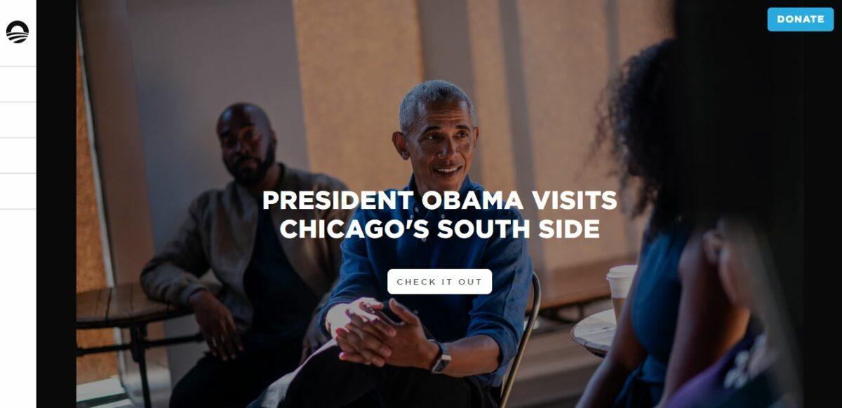 the obama foundation wordpress site