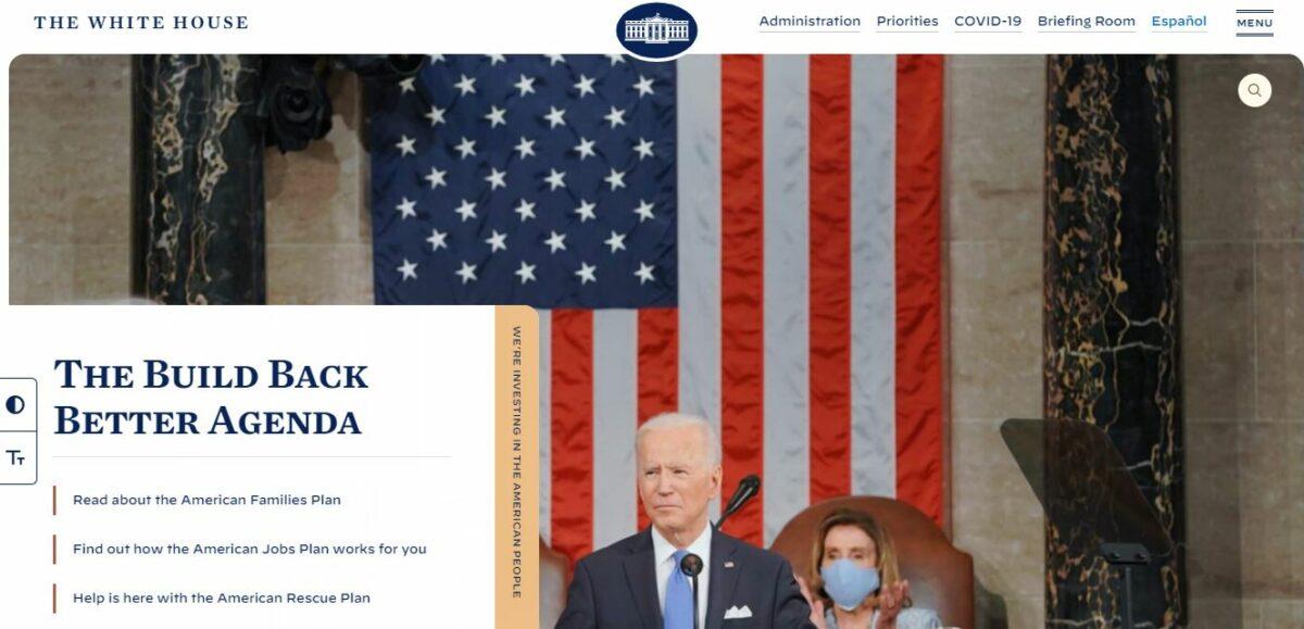the white house wordpress site