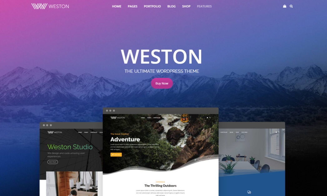 weston wordpress theme