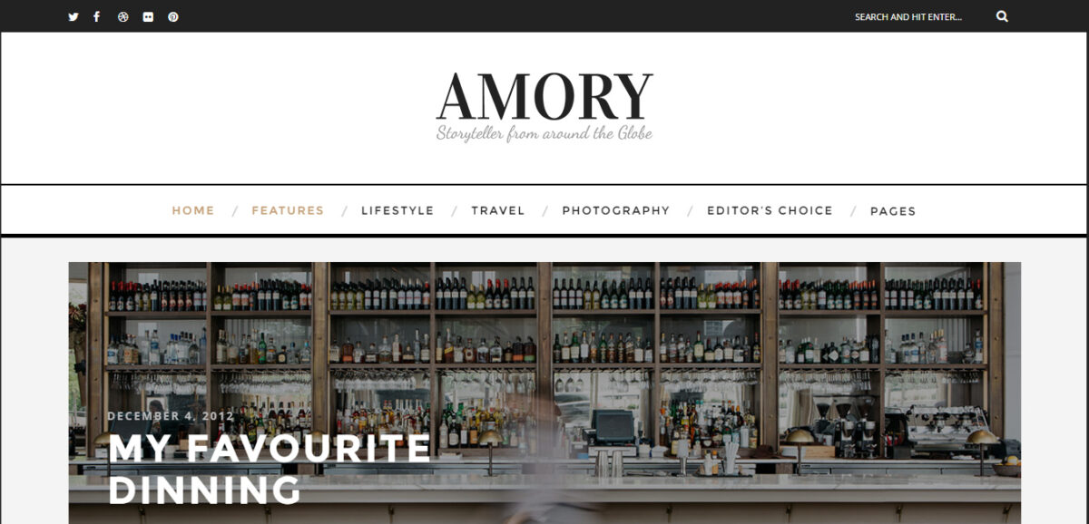 amory wordpress theme