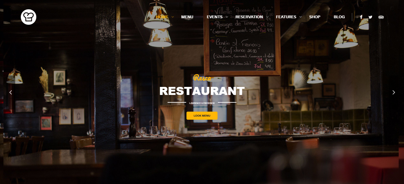 resca excellent culinary wordpress theme