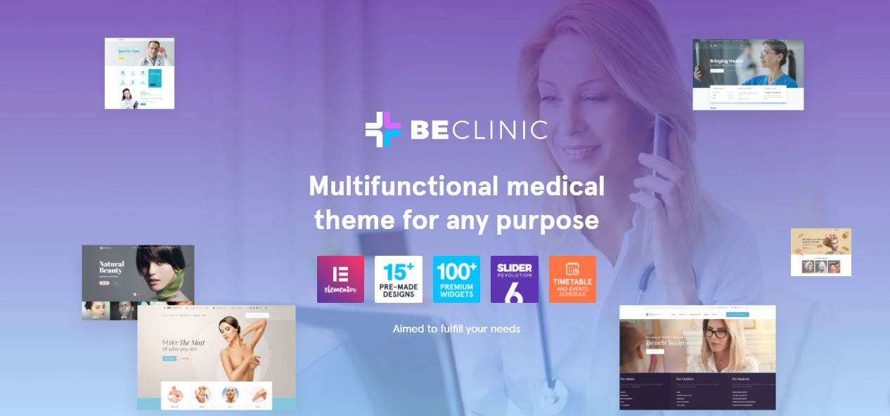 beclinic perfect selection for medical websites