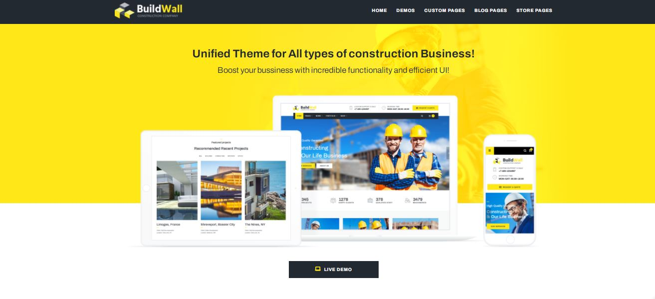 buildwall excellent templatemonster wordpress theme for construction