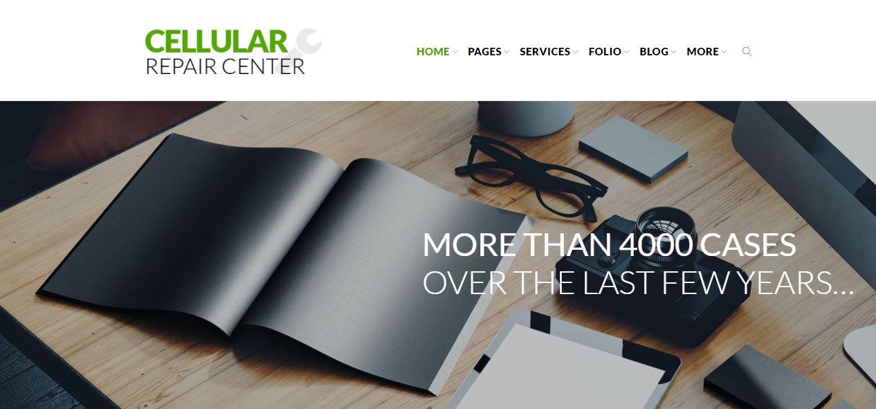 cellular repair center a responsive electronics templatemonster theme