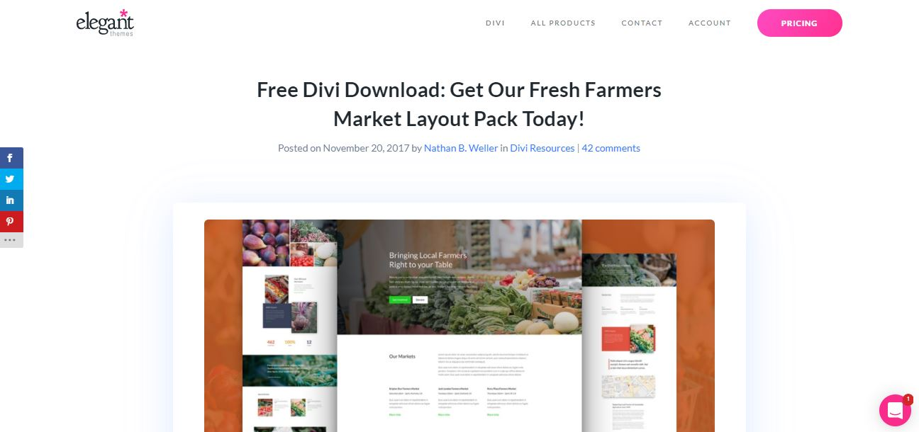divi farmers a beautiful wordpress theme for agricultural and organic products