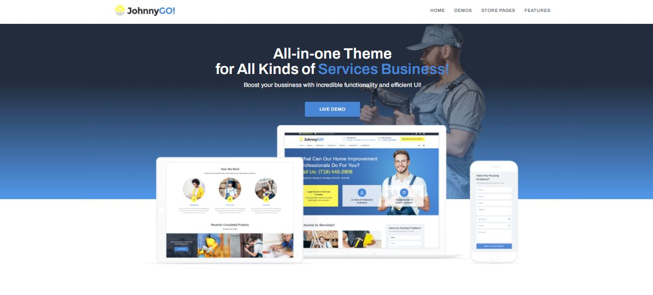 johnnygo personnel daily service templatemonster wordpress theme for you