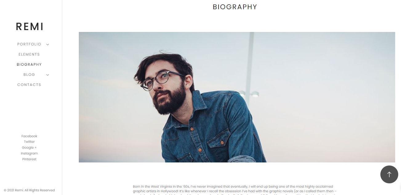 remi wordpress theme for photography and portfolio